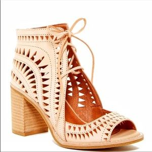 New jeffrey campbell lace up sandals sz7